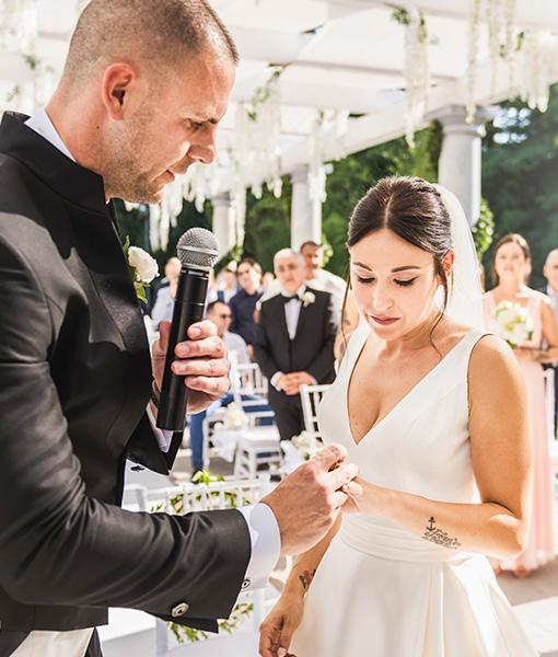 Scambio Anelli - Celebrazione Rito Matrimonio Cà Borghese, Ameglia (SP)